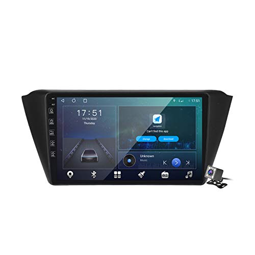 Android 10 Car Radio de Navegación GPS para VW Skoda Fabia 2015 con 9 Pulgada Táctil Support 5G FM Am RDS/DSP MP5 Player/Steering Wheel Control/Carplay Android Auto,M300