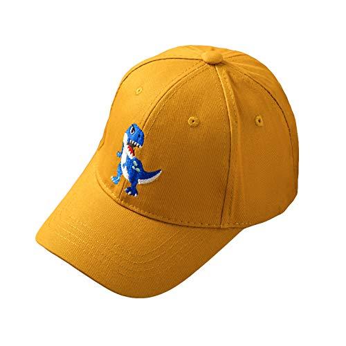 NCONCO Gorra de béisbol de bebé ajustable verano sombrero dinosaurio algodón sombrero para niños niñas