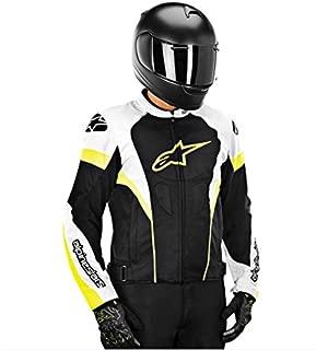 Alpinestars T-GP Plus R Air Men's Street Motorcycle Jackets - Black/White/Yellow / 2X-Large