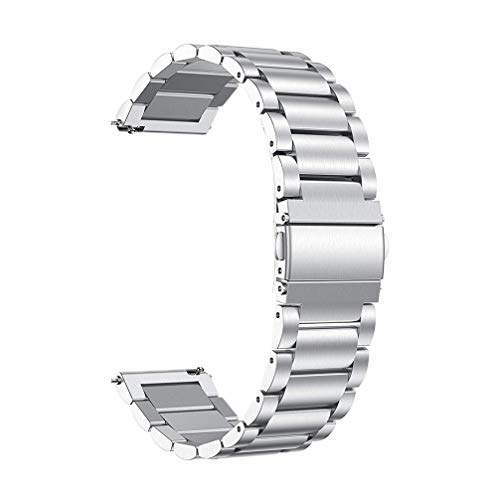 NICERIO Correa de Reloj de Acero Inoxidable Correa de Reloj Pulsera de Reemplazo Comercial Accesorios de Reloj Compatibles para Garmin Venu (Plata)