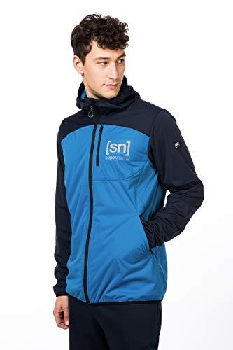 super.natural Leichte Herren Softshell-Jacke, Mit Merinowolle, M Movement JACKET, XL, Schwarz/Blau