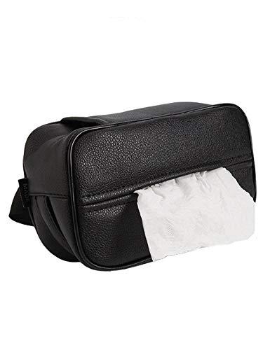 NOBRAND Multifunctionele Auto Tissue Box - goede ventilatie, veroudering weerstand, zacht en comfortabel en sterke flexibiliteit.Verborgen rits ontwerp voor Eenvoudige installatie