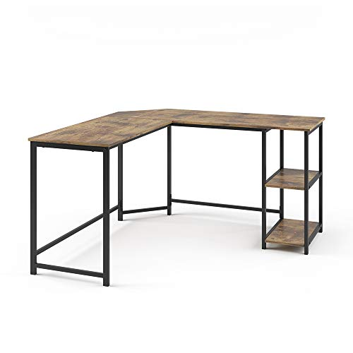 Vicco Eckschreibtisch Computertisch Schreibtisch Fyrk L-förmiger Bürotisch Tisch
