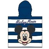Toalla de Poncho para Playa y Piscina Infantil de Licencia Oficial (Mickey Mouse A)