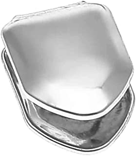 Solid 925 Sterling Silver Real Single Tooth Grillz - Grills Cap for Teeth - Real Solid Silver NOT Plated