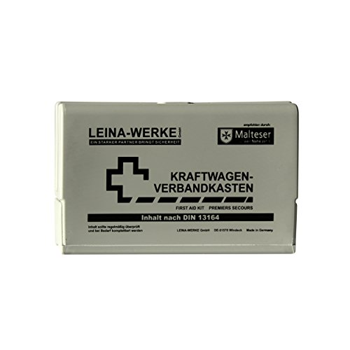 Leina-Werke 10053 KFZ-Verbandkasten Leina-Star II, Grau/Schwarz