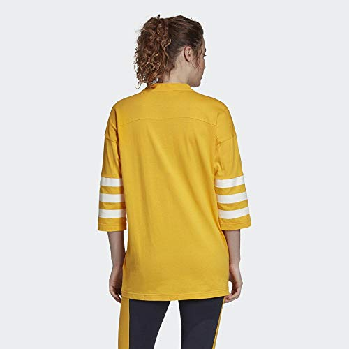 adidas Damen Sport ID Jersey Top M Active Gold/Active Gold - 5