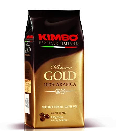 Caffe Espresso Gold 100% Arabica.ganze Bohnen 250g/Kimbo