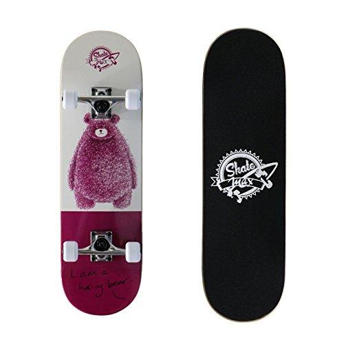 Skateboad Professionale Completo con Ruote Urban Culture Sport Colorato Nuovo