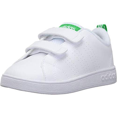 Adidas Vs Adv Cl Cmf Inf, Scarpe da Fitness Unisex - Bambini, Bianco (Footwear White/Green), 21 EU