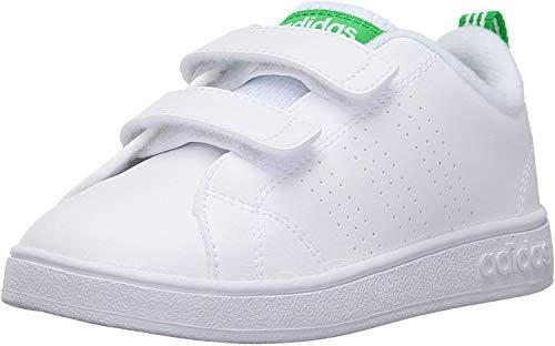 Adidas Vs Adv Cl Cmf Inf, Scarpe da Fitness Unisex - Bambini, Bianco (Footwear White/Green), 22 EU