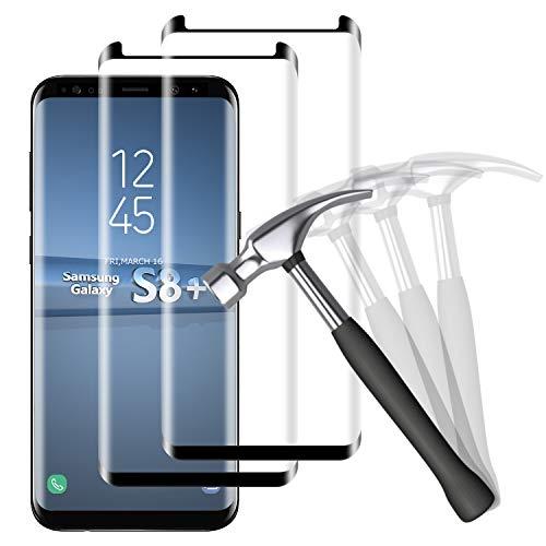NUOCHENG Panzerglas Schutzfolie für Samsung Galaxy S8 Plus/S8+, 2 Stück Frei von Kratzern Fingabdrücken Glass, 9H Härte, HD Displayschutzfolie Panzerglasfolie für Samsung S8 Plus/S8+
