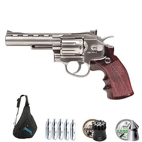 Revólver de balines Winchester .45 CO2 | Arma de perdigones Calibre 4,5mm semiautomática de Aire comprimido CO2