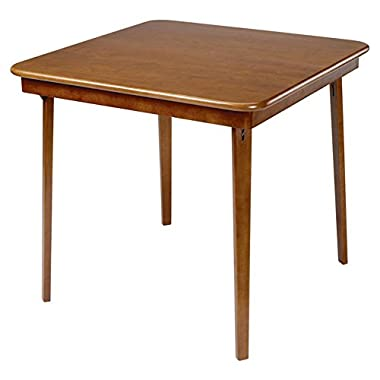 Wood Folding Card Table in Warm Fruitwood Finish