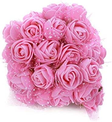 Honestly. Store Artificial Foam Flowers Roses (1.5 cm, Pink) -144 Pieces