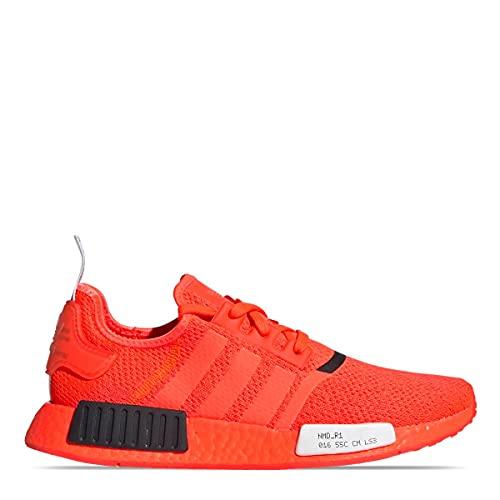 adidas NMD_r1, Zapatillas de Gimnasio Hombre, Rojo Solar/Núcleo Negro/Blanco FTWR, 42 2/3 EU