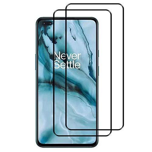 FANIER Panzerglas Schutzfolie für OnePlus Nord 5G, [2 Stück] HD 9H Festigkeitgrad Bildschirmschutzfolie Screen Protector für OnePlus Nord 5G [Kompatibel mit Handy Hülle]