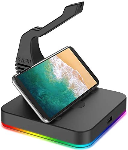 RGB Mouse Bungee KAFRI Mice Cable Holder Rack with 1 Port USB Hub Mouse Wire Cord Management product image