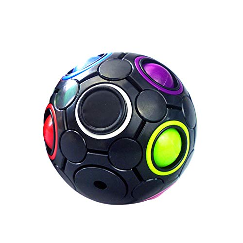 Fidget Toy wuayi Fidget Toys Pack Rainbow Decompression Educational Toys 10 Holesmagic Ball Diameter 2.8 Inth Sensory Toys Anxiety Relief Toys Unique 2021 Birthday Idea Gift for Kind Erwachsene