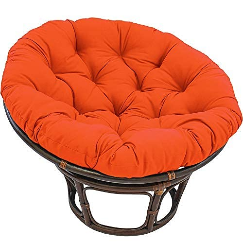 eewopjkj Large Round Chair Cushion Thick Outdoor Swing Cushion Wicker Hanging Basket Seat Cushion Replacement Nest Cushion (Not Including Chair) Orange 100x100cm (39x39inches)