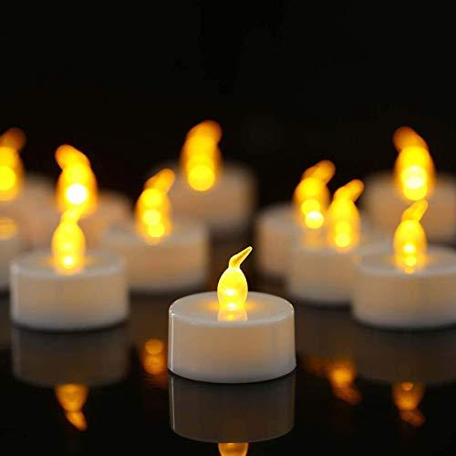 Nancia LED Teelichter,150 Stück LED Kerzen CR2032 Batterie betrieben Kerzen flammenlose Teelicht,Weihnachten Hochzeit oder anderen Gelegenheiten weit verbreitet sein(warmes Gelb 150pcs)