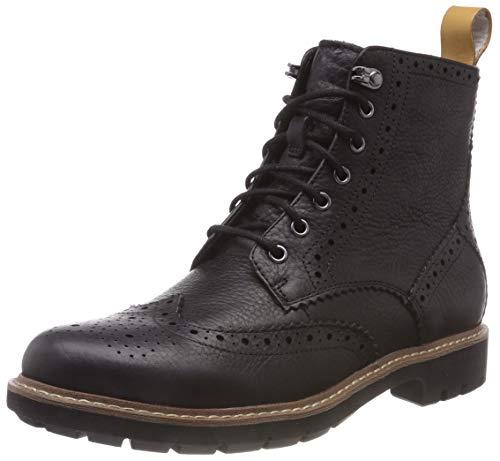 Clarks Men's Batcombe Lord Chelsea Boots, Schwarz (Black), 44 EU