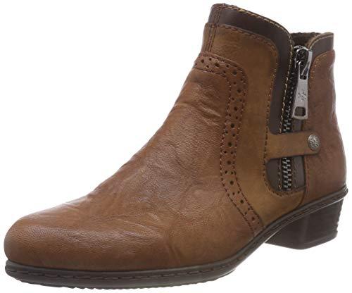 Rieker Damen Y07B7 Kurzschaft Stiefel, Braun (Cuoio/Chestnut/Kastanie 23), 39 EU