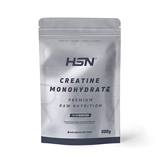 HSN Raw Creatina Monohidrato Micronizada en Polvo, 500 gr