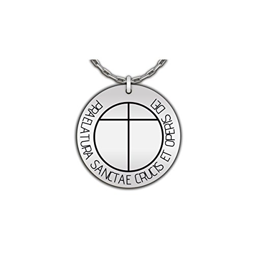 Hot Fresh And Funny Opus Dei Cross | St Josemaria Symbol Jewelry, Catholic Secret Society Pendant - Stainless Steel Necklace
