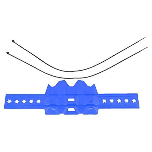 Cubierta del protector de escape moto protector universal de la cubierta del protector del tubo de escape de la motocicleta Anti-Hot(Azul)