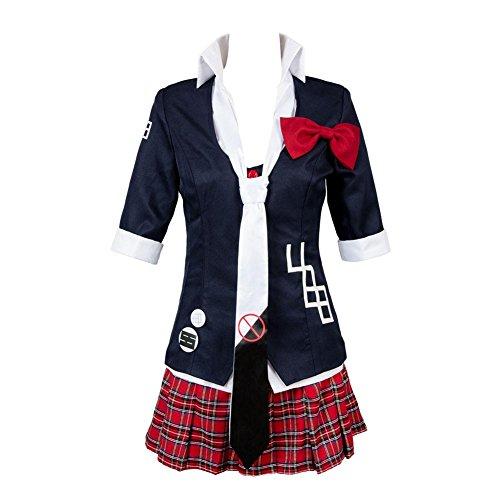 Damen Junko Enoshima Kostum Erwachsene Halloween Karneval Anime Cosplay Japanische Schuluniform, XXXL
