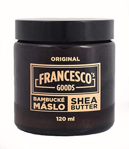 FRANCESCO\'S GOODS Sheabutter Bio für Kosmetik, unraffiniert Body Butter vegane, Körperpflege, Tattoo Creme (120 ml, Elfenbeinfarbe)
