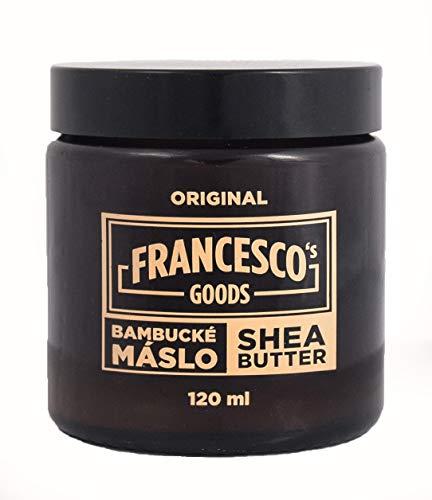 FRANCESCO\'S GOODS Sheabutter Bio für Kosmetik, unraffiniert Body Butter vegane, Körperpflege, Tattoo Creme (120 ml, Gelb)