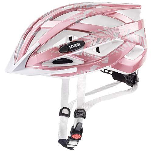 Uvex 4144261815 Kinder air wing Fahrradhelm, rosa/weiß Gr. 52-57cm