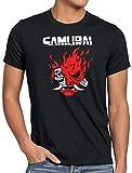 A.N.T. Cyberpunk Samurai Camiseta para Hombre T-Shirt silverhand Johnny Band, Talla:3XL