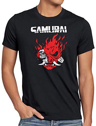 A.N.T. Cyberpunk Samurai Camiseta para Hombre T-Shirt silverhand Johnny Band, Talla:L