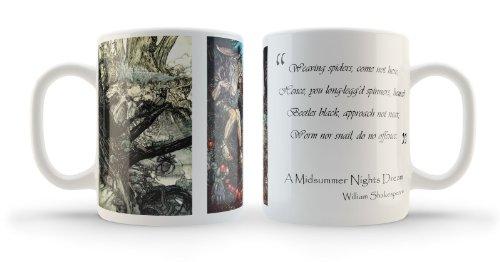 Vintage Shakespeare illustrées Midsummer Nights Dream Mug