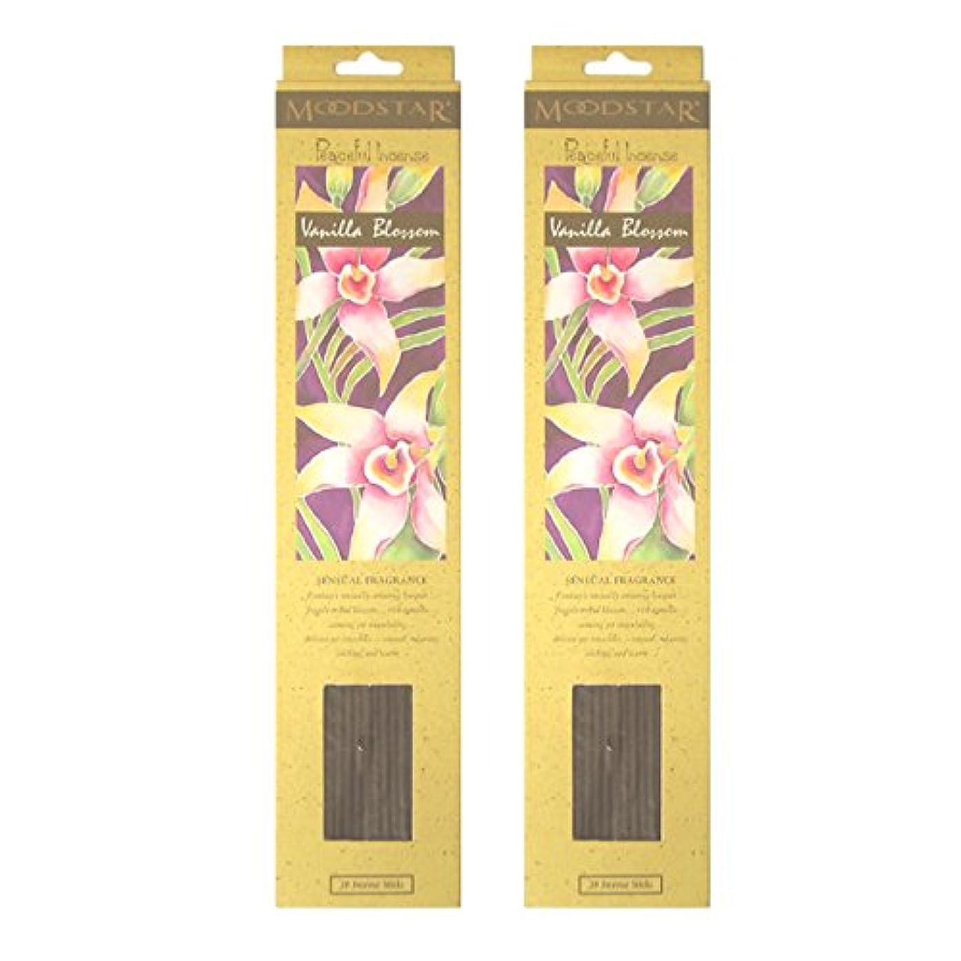クリップ手足大腿MOODSTAR ムードスター Vanilla Blossom バニラ?ブロッサム お香 20本 X 2パック (40本)