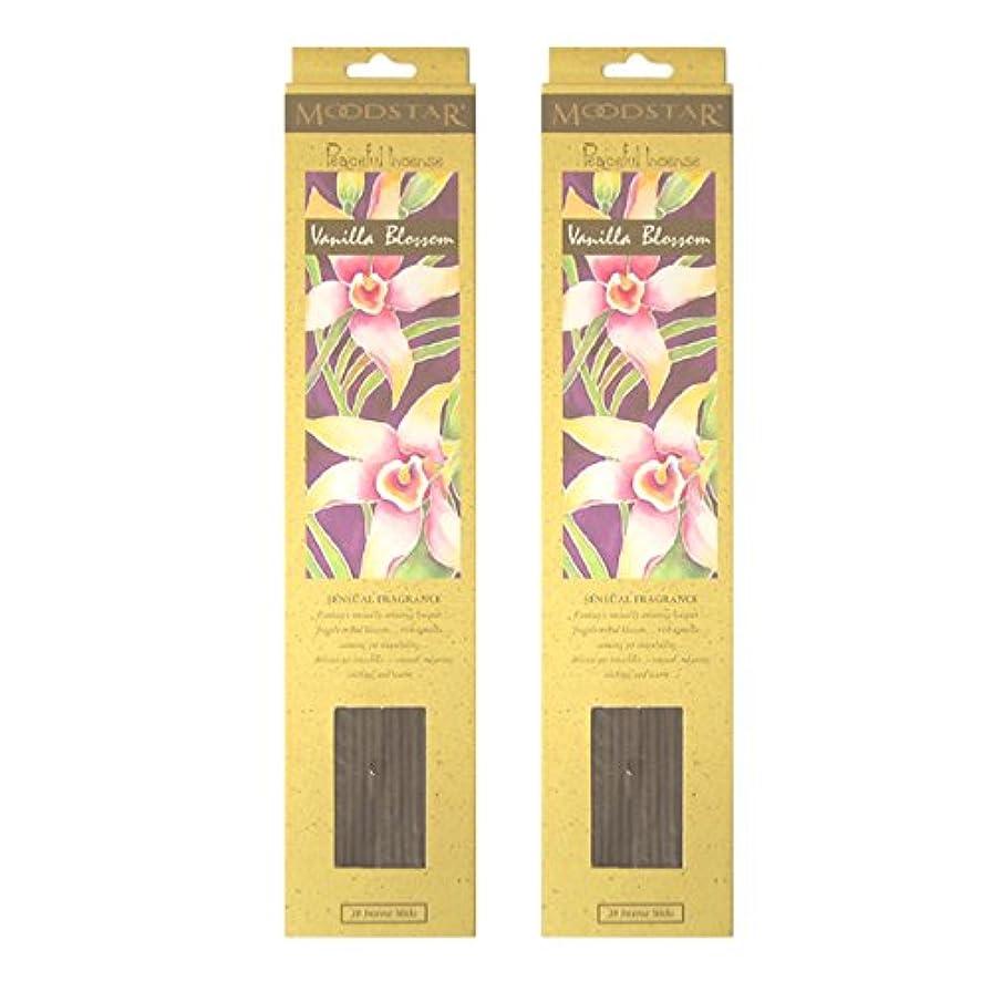 オプションくちばし弾力性のあるMOODSTAR ムードスター Vanilla Blossom バニラ?ブロッサム お香 20本 X 2パック (40本)