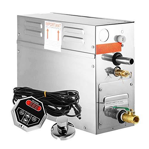 Stoomgenerator, stoomruimte-generator, digitale weergave, sauna stoomgenerator, voor thuis en in de handel douche, stoomapparaat, hoofdbadkuur, ontspanning, 7,5 kW