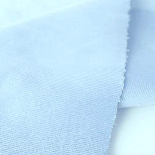 TOLKO 1m Baby Cord Stoff | feiner Baumwoll Cordsamt | Bekleidungsstoff für Hosen Jacken Kleider | weiche querelastische Meterware 140cm breit | uni Baumwollstoffe Nähstoffe günstig kaufen (Baby Blau)