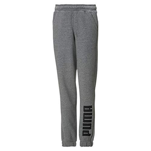 PUMA Jungen Fleece Jogger-Sweatpants Medium Gray Heather-Black 128