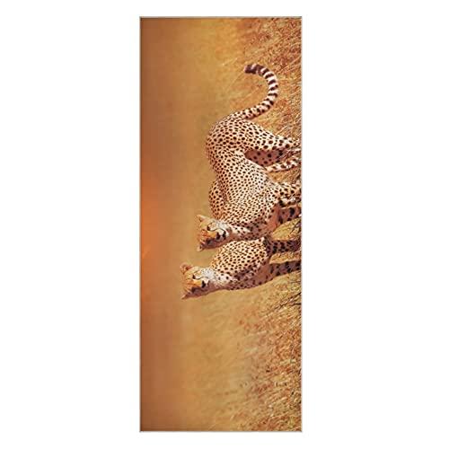 Toalla de yoga caliente Cheetah Group Parque Nacional del Serengeti Toallas de yoga al atardecer Colchonetas de yoga antideslizantes súper suaves Adecuado para la playa Fitness Park Yoga y