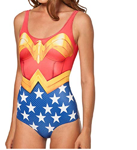 Wonder Woman Swimsuit Costume for Ladies, S to 3XL
