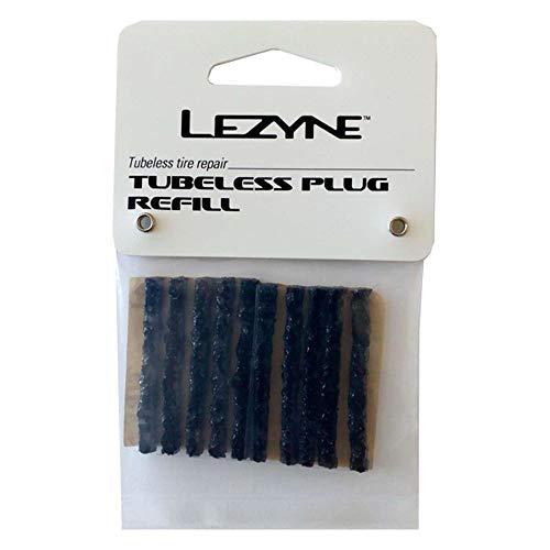 Lezyne Ersatzgummi für Tubeless Kit 10 Stück Schwarz, 1-PK-PTBLS-V104-10 Material de reparación, Unisex Adulto, Negro, Medium