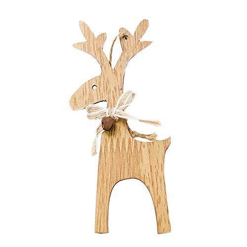 Fasclot 1PCS Christmas Deer Wooden Xmas Tree Pendants DIY Ornaments for Christmas Party Home & Garden Home Decor