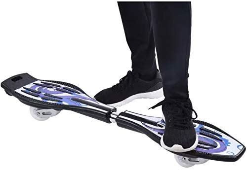 Toyify Alloy Made Heavy Duty Wave Board, Two Wheel Skate Board for Boys and for Girls Skating Purpose Flash Colorful Lights on Wheels ( Color & Design May Vary ) with Warranty