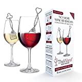 PureWine Wand Purifier Filter Stick Removes Histamines and Sulfites - Reduces Wine Allergies & Eliminates Headaches - Drop It & Stir Aerates Restoring Taste & Purity - Pack of 8