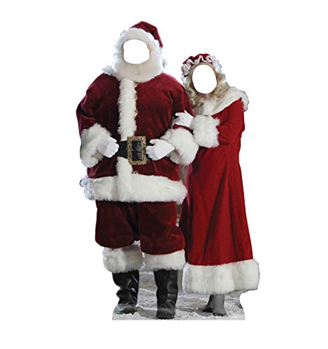 Advanced Graphics Santa and Mrs. Claus Life Size Cardboard Cutout Stand-in