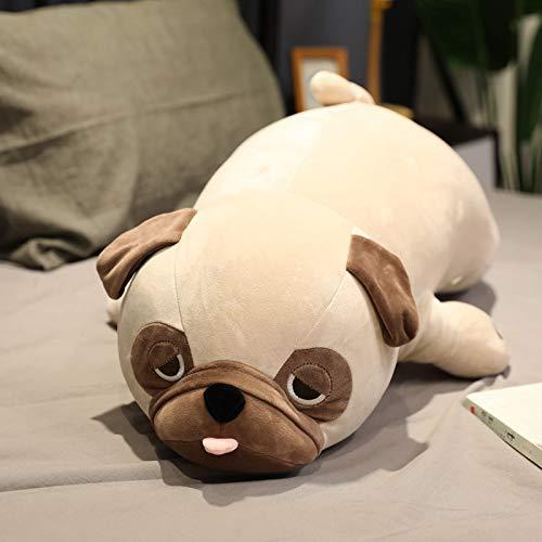 N / A Lindo Perro de Peluche muñeca de Peluche Almohada de Peluche Bull Terrier Perro Juguetes de Peluche niños niños Juguetes Suaves Regalo de cumpleaños 55 cm
